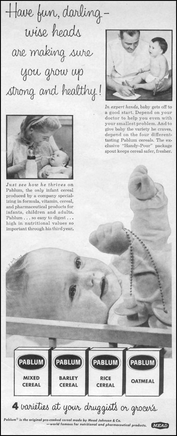 PABLUM INFANT CEREAL LIFE 07/12/1954 p. 71