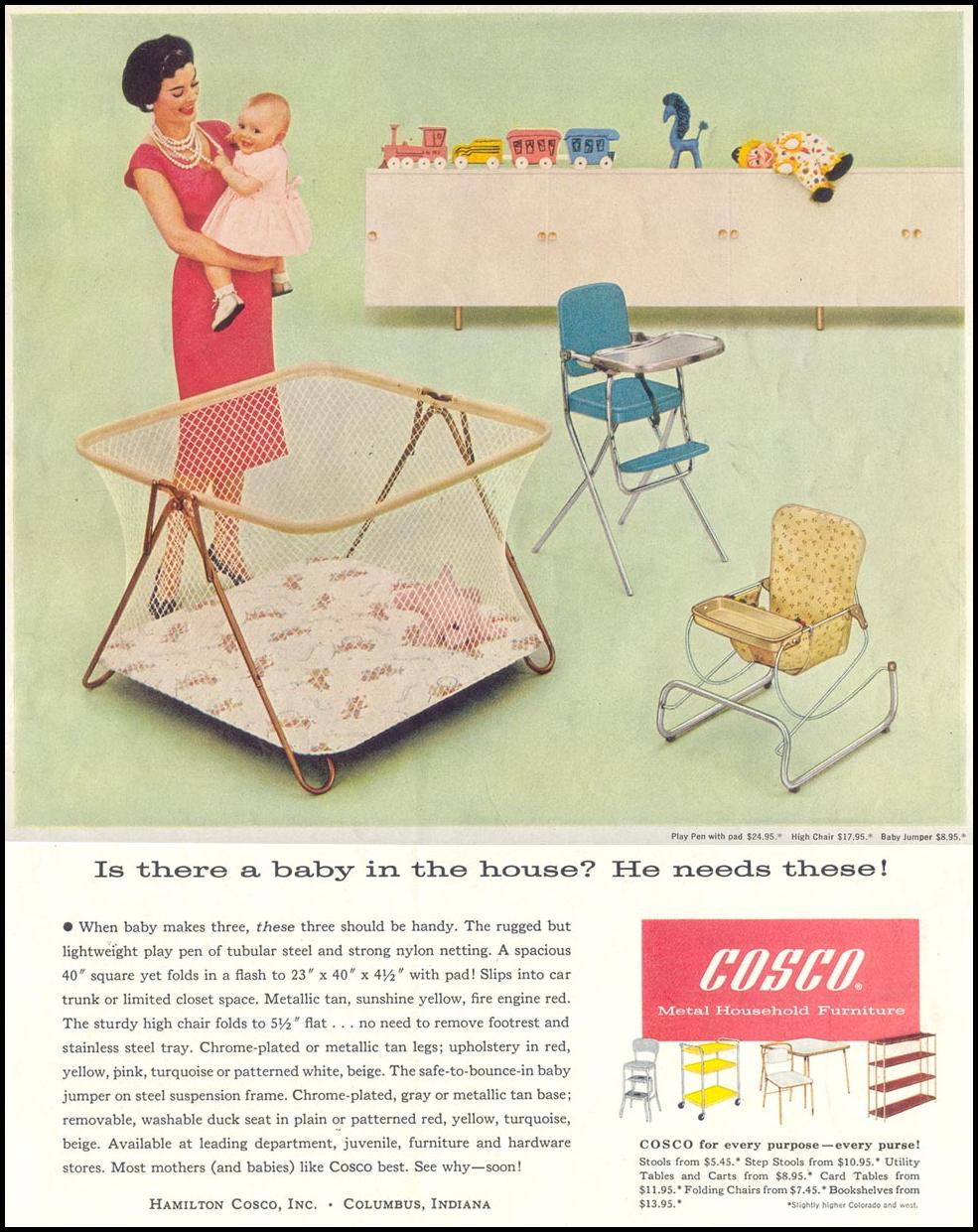 COSCO BABY FURNITURE SATURDAY EVENING POST 05/02/1959