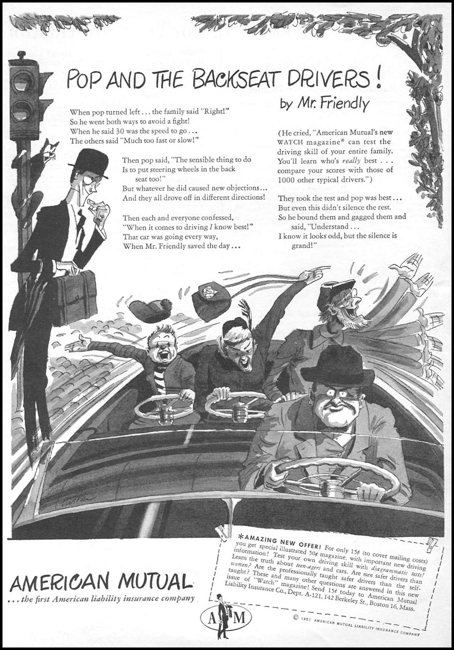 AUTOMOBILE INSURANCE NEWSWEEK 06/11/1951 p. 18