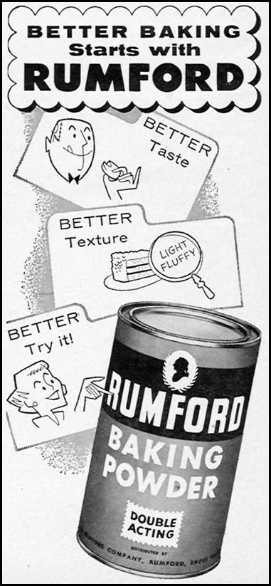 RUMFORD BAKING POWDER FAMILY CIRCLE 02/01/1956 p. 80
