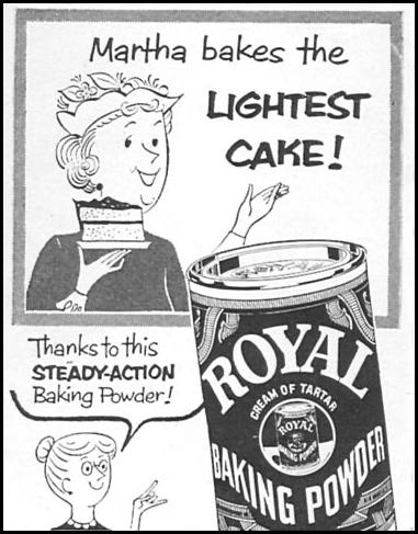 ROYAL BAKING POWDER WOMAN'S DAY 09/01/1955 p. 118