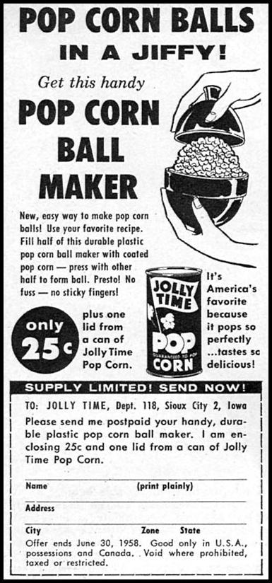 JOLLY TIME POPCORN FAMILY CIRCLE 02/01/1958 p. 78