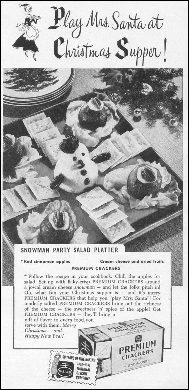 NABISCO PREMIUM CRACKERS WOMAN'S DAY 12/01/1948 p. 67