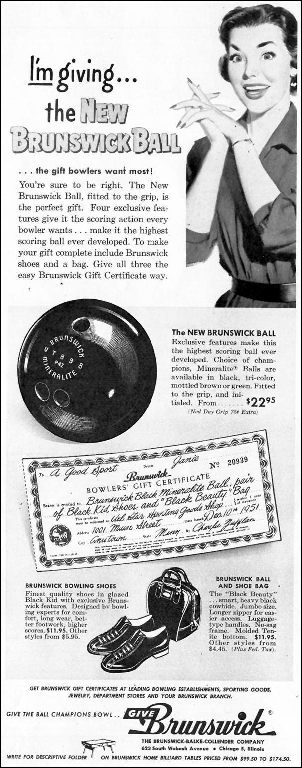 MINERALITE BOWLING BALL LOOK 12/04/1951 p. 49