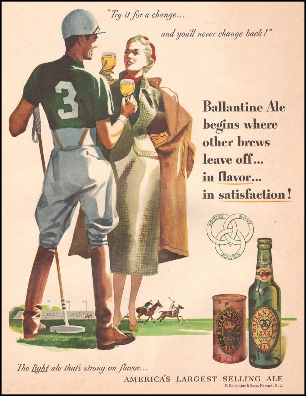 BALLANTINE ALE LIFE 04/30/1951 p. 107