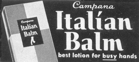 ITALIAN BALM HAND LOTION LIFE 10/13/1952 p. 156