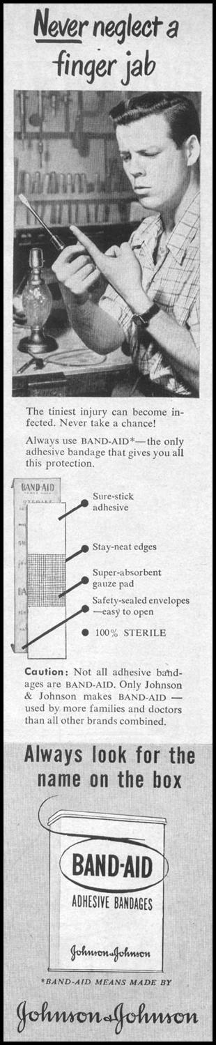 BAND-AIDS ADHESIVE BANDAGES LIFE 04/17/1950 p. 177