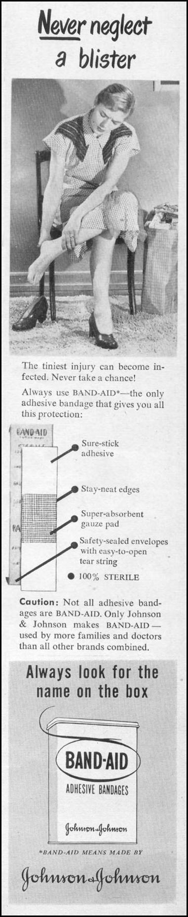 BAND AID BRAND ADHESIVE BANDAGES LIFE 06/05/1950 p. 59