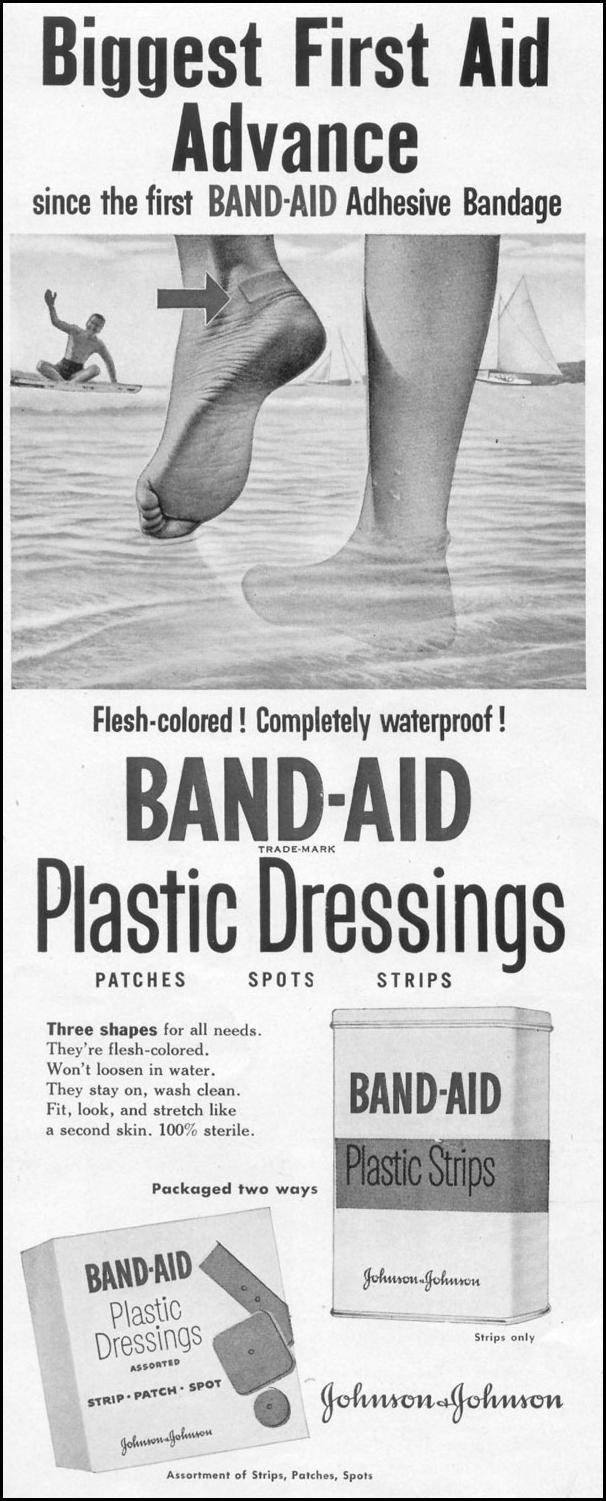 BAND-AID PLASTIC DRESSINGS LIFE 06/16/1952 p. 82