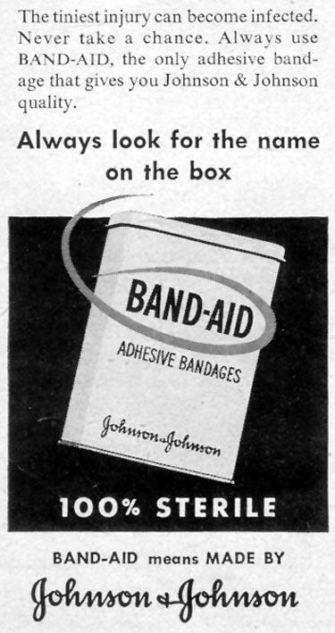 BAND-AID ADHESIVE BANDAGES LIFE 07/30/1951 p. 32