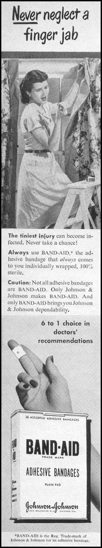 BAND-AID ADHESIVE BANDAGES LIFE 10/11/1948 p. 142