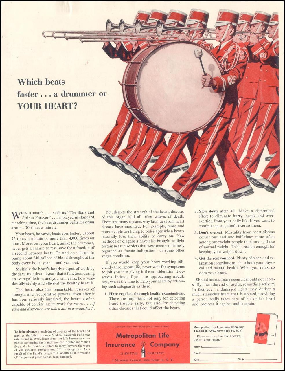 LIFE INSURANCE SATURDAY EVENING POST 02/05/1955 p. 11