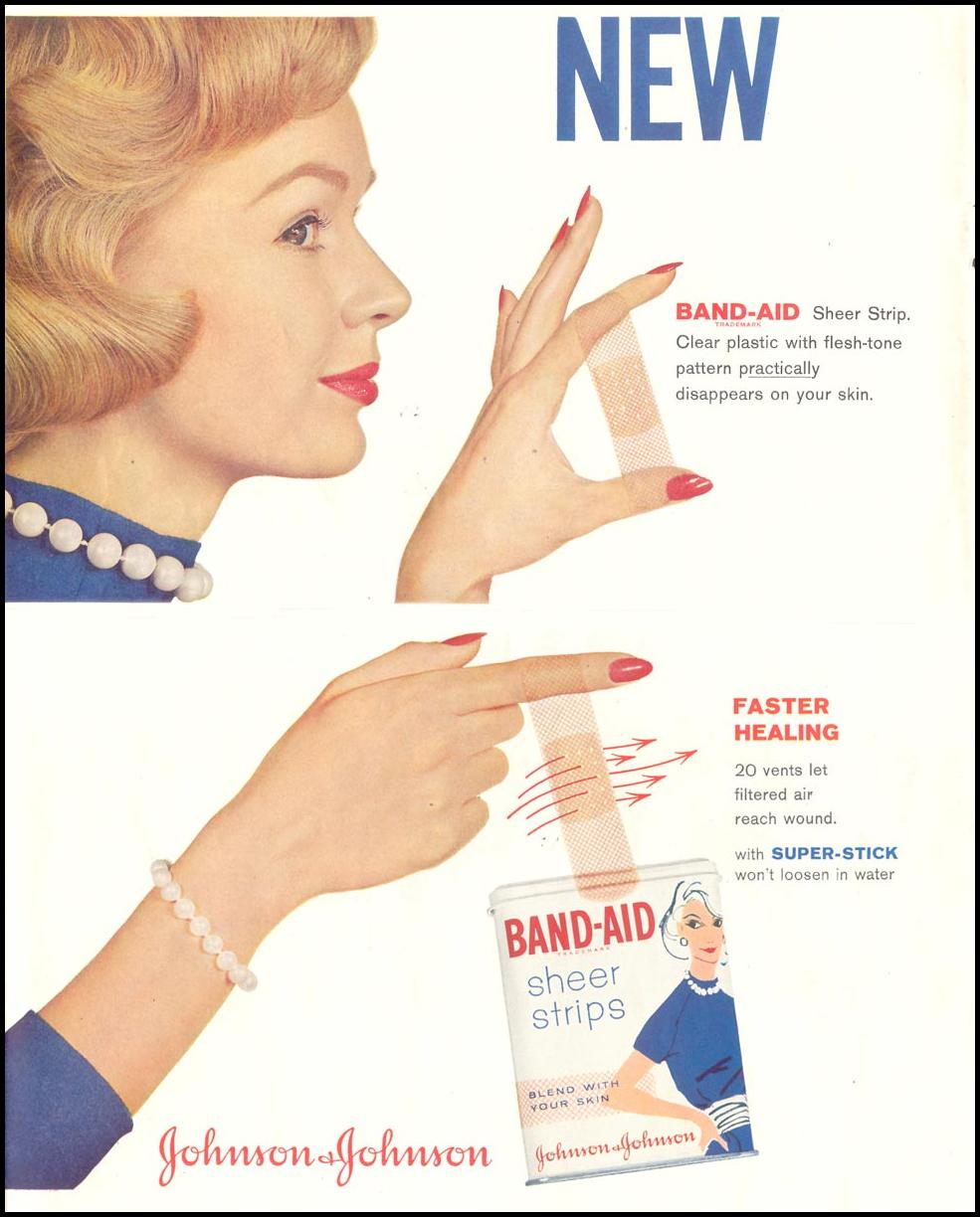 BAND-AID SHEER STRIPS SATURDAY EVENING POST 08/15/1959 p. 62