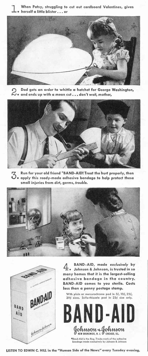 BAND-AID ADHESIVE BANDAGES LIFE 02/14/1944 p. 14