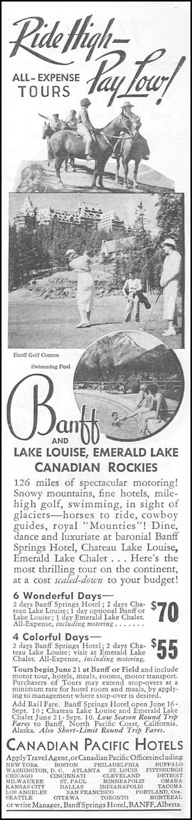 CANADIAN ROCKIES GOOD HOUSEKEEPING 06/01/1935 p. 195