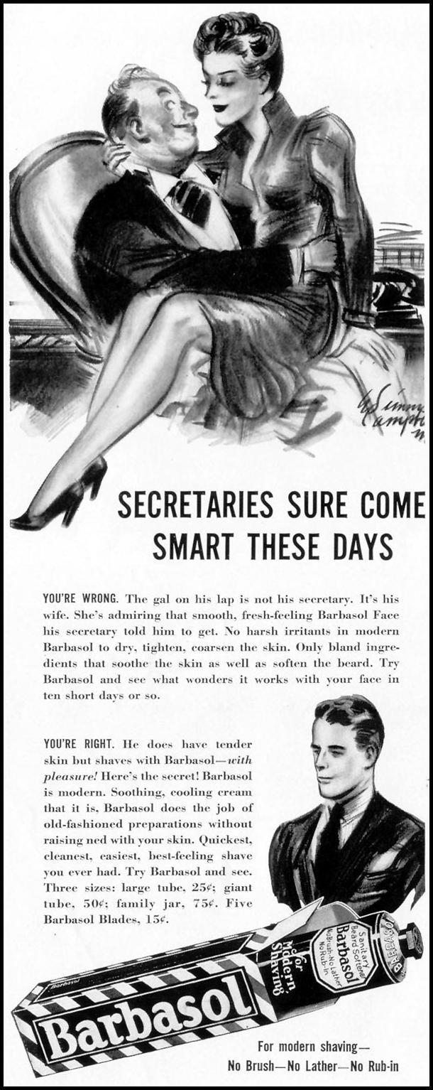 BARBASOL SHAVE CREAM LIFE 09/16/1940 p. 4