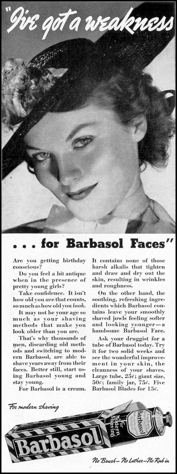 BARBASOL SHAVE CREAM LIFE 09/20/1937 p. 9