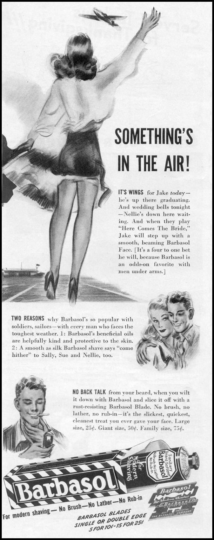BARBASOL SHAVE CREAM LIFE 11/02/1942 p. 118
