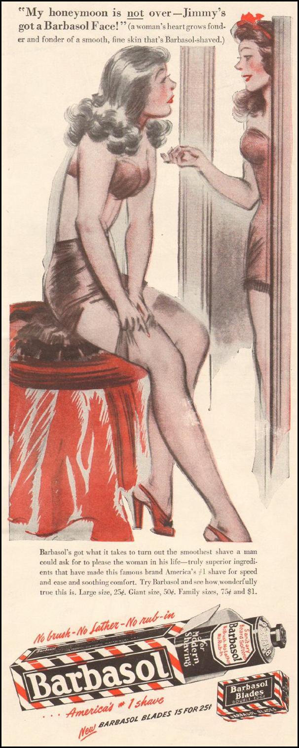 BARBASOL SHAVE CREAM LIFE 11/25/1946 p. 135