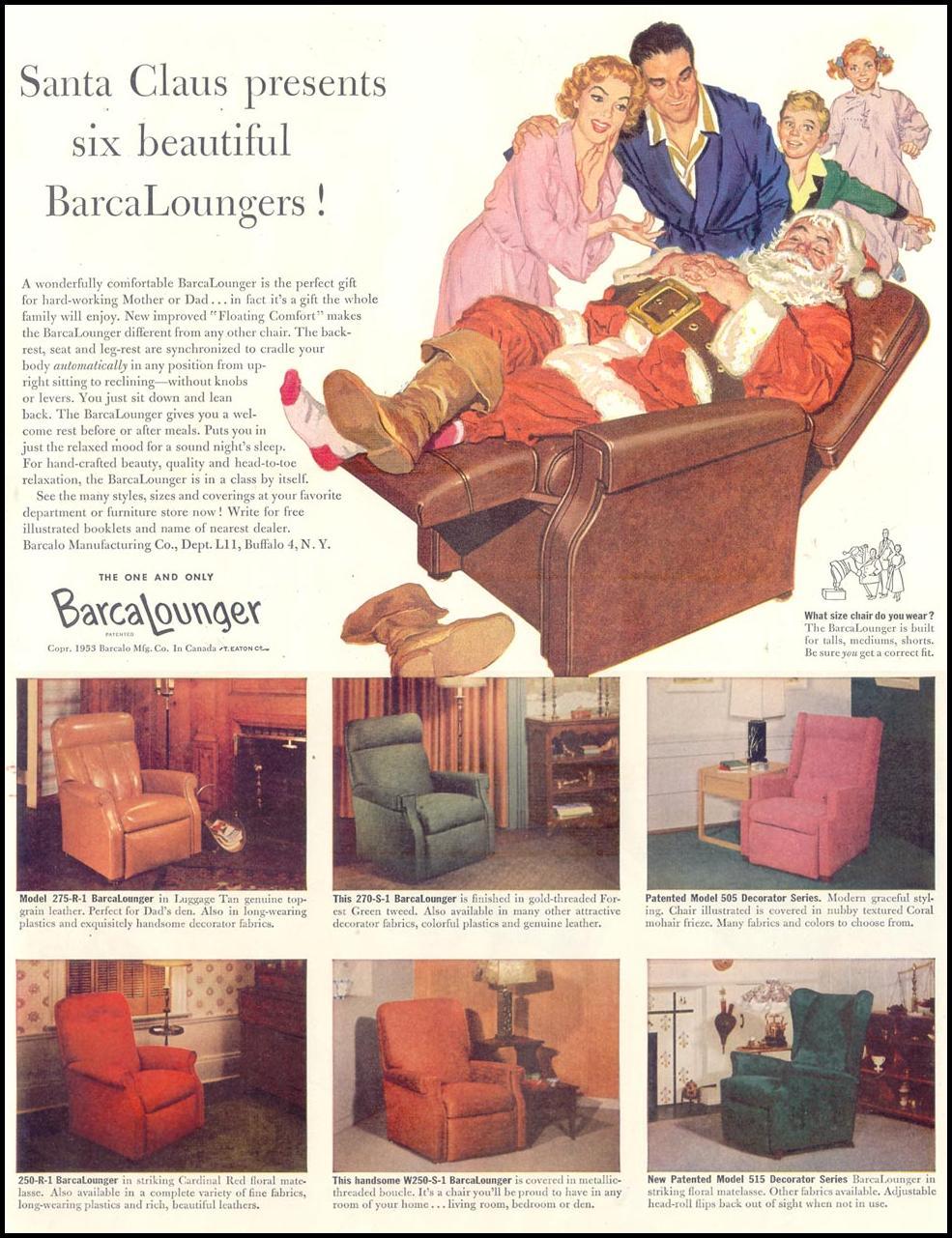 BARCALOUNGER LIFE 11/30/1953 p. 133