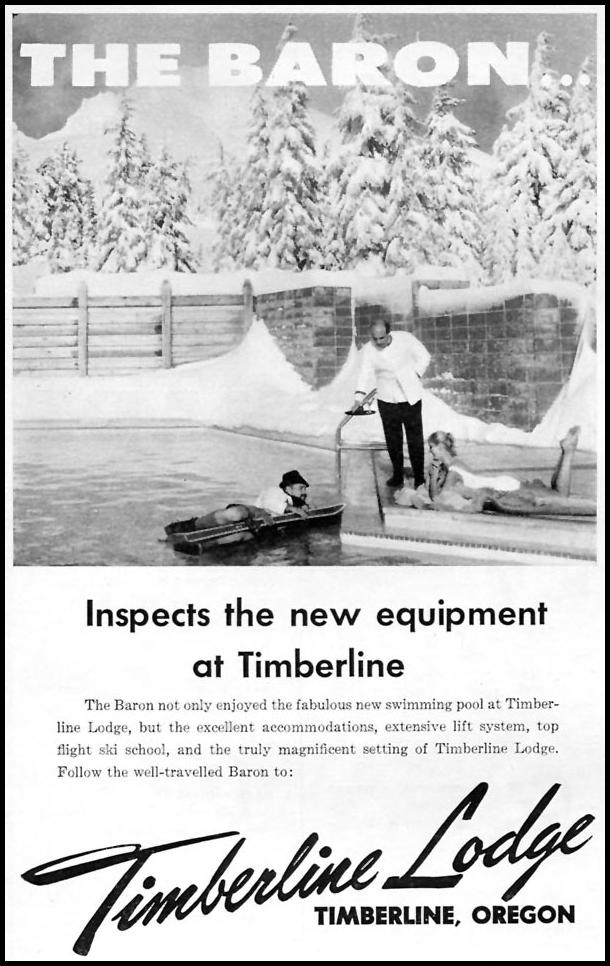 TIMBERLINE LODGE SPORTS ILLUSTRATED 01/12/1959
