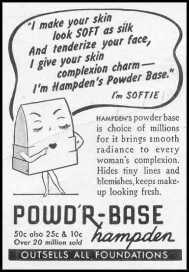 HAMPDEN'S POWD'R-BASE WOMAN'S DAY 05/01/1943 p. 64