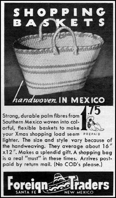 MEXICAN SHOPPING BASKETS LIFE 11/13/1944 p. 102