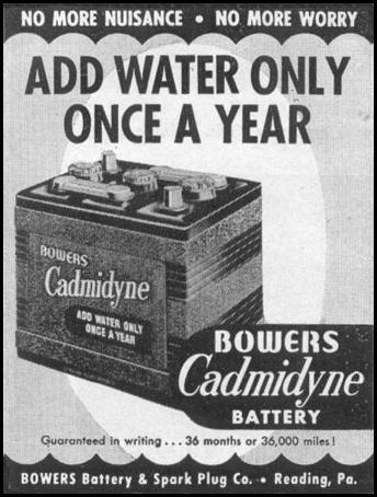 BOWERS CADMIDYNE AUTOMOBILE BATTERY LIFE 06/05/1950 p. 108