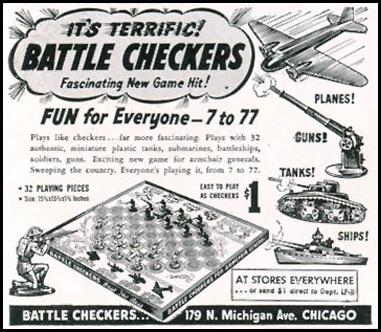 BATTLE CHECKERS LIFE 11/30/1942 p. 138