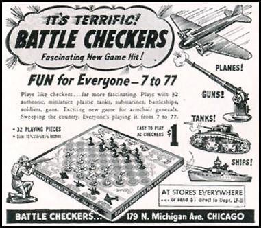BATTLE CHECKERS LIFE 11/30/1942 p. 138