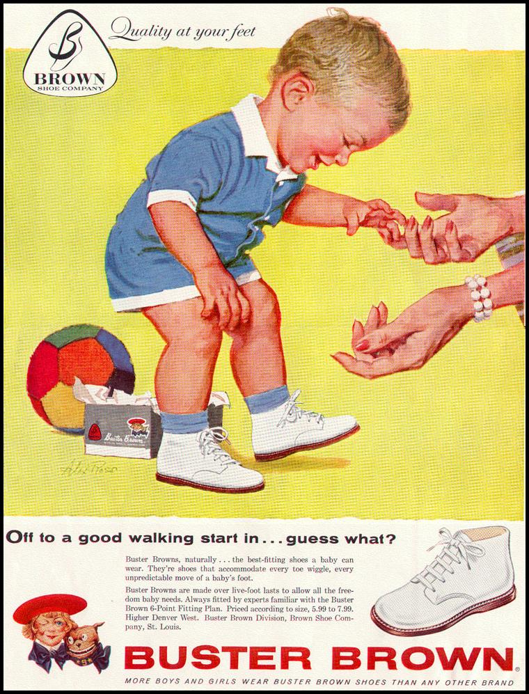 BUSTER BROWN SHOES LIFE 02/02/1959 INSIDE FRONT