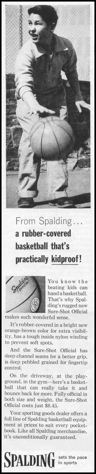 SURE-SHOT OFFICIAL BASKETBALL LIFE 04/08/1957 p. 136