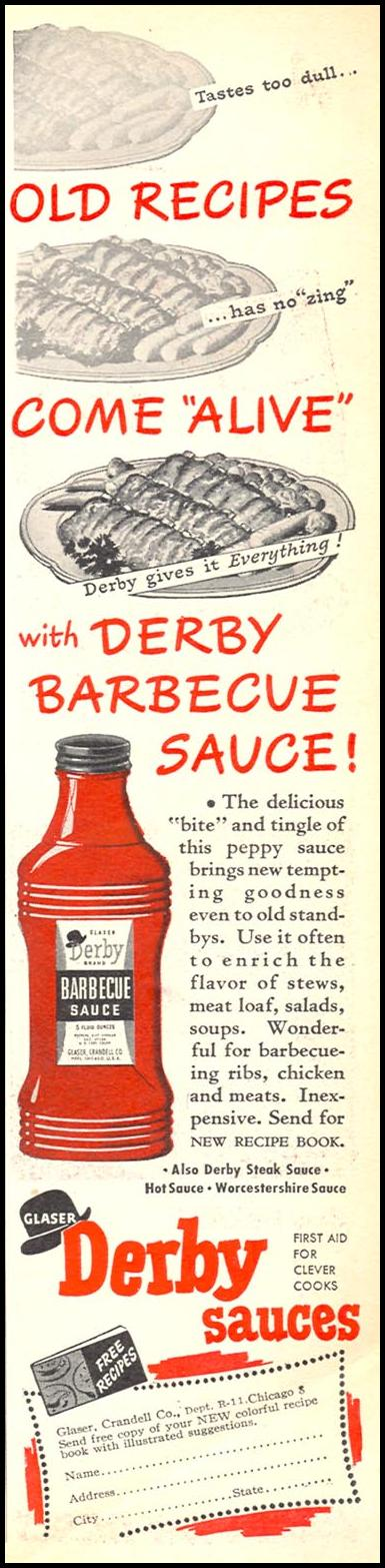 DERBY BARBECUE SAUCE WOMAN'S DAY 11/01/1945 p. 9
