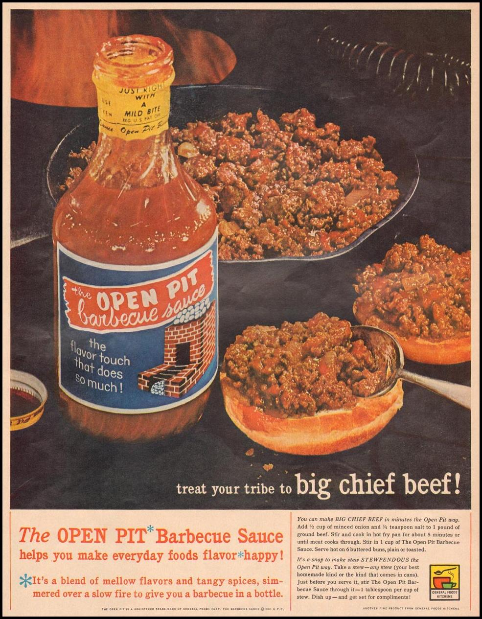 OPEN PIT BARBECUE SAUCE LIFE 03/31/1961