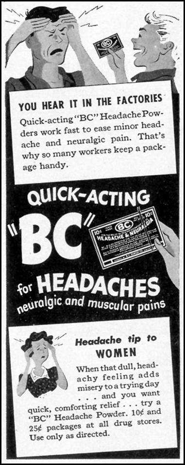 BC HEADACHE POWDERS LIFE 02/21/1944 p. 17