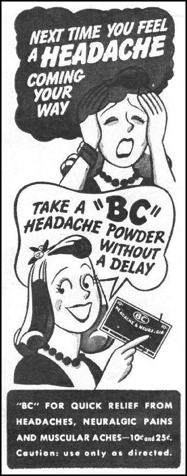 BC HEADACHE POWDER LIFE 11/25/1946 p. 96