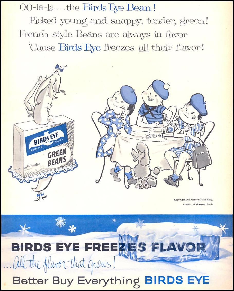 BIRDS EYE FROZEN FOODS FAMILY CIRCLE 01/01/1956 p. 74