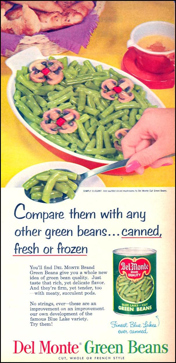 DEL MONTE GREEN BEANS FAMILY CIRCLE 02/01/1956 p. 73