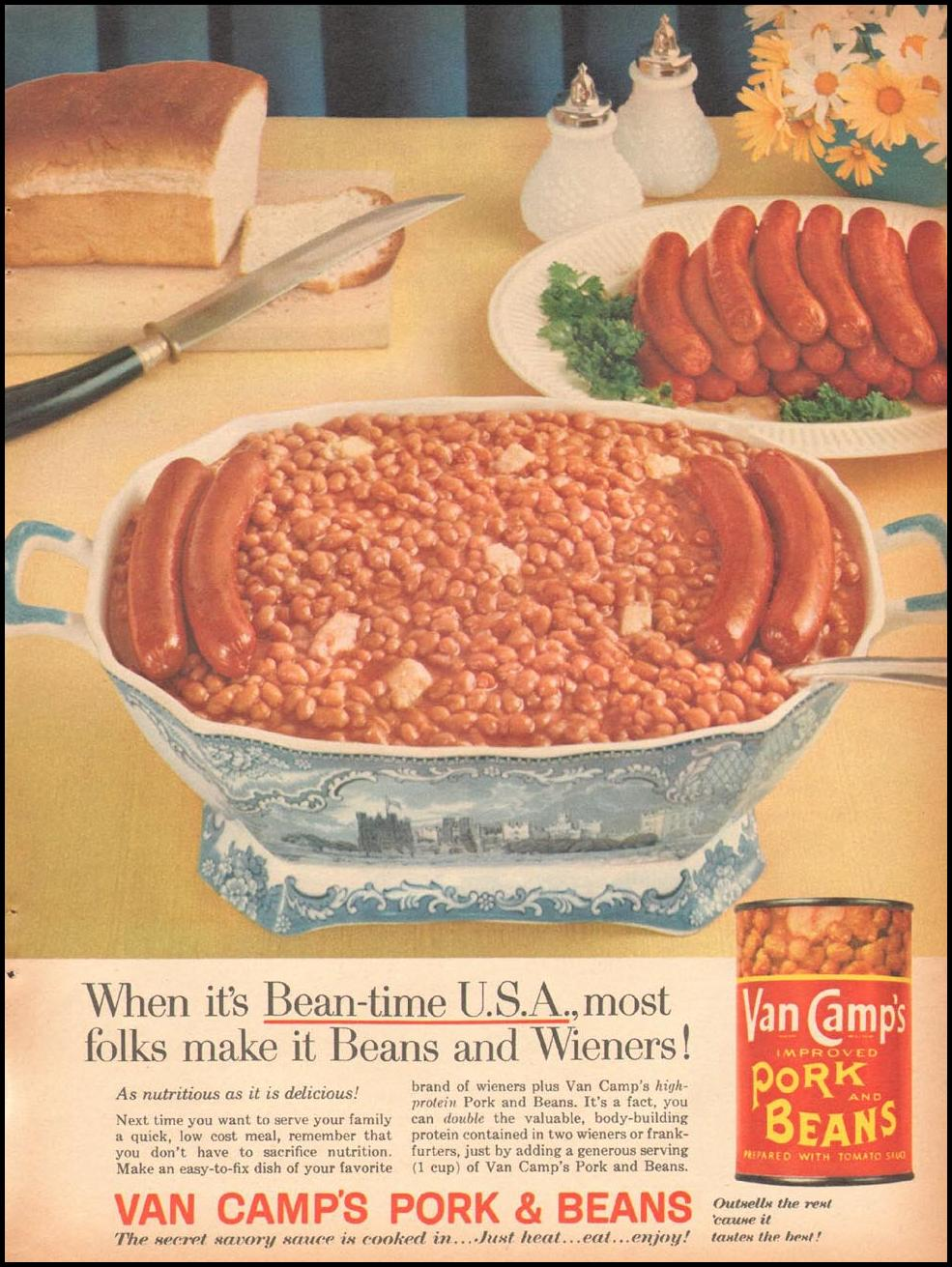 VAN CAMP'S PORK AND BEANS FAMILY CIRCLE 02/01/1958 p. 64