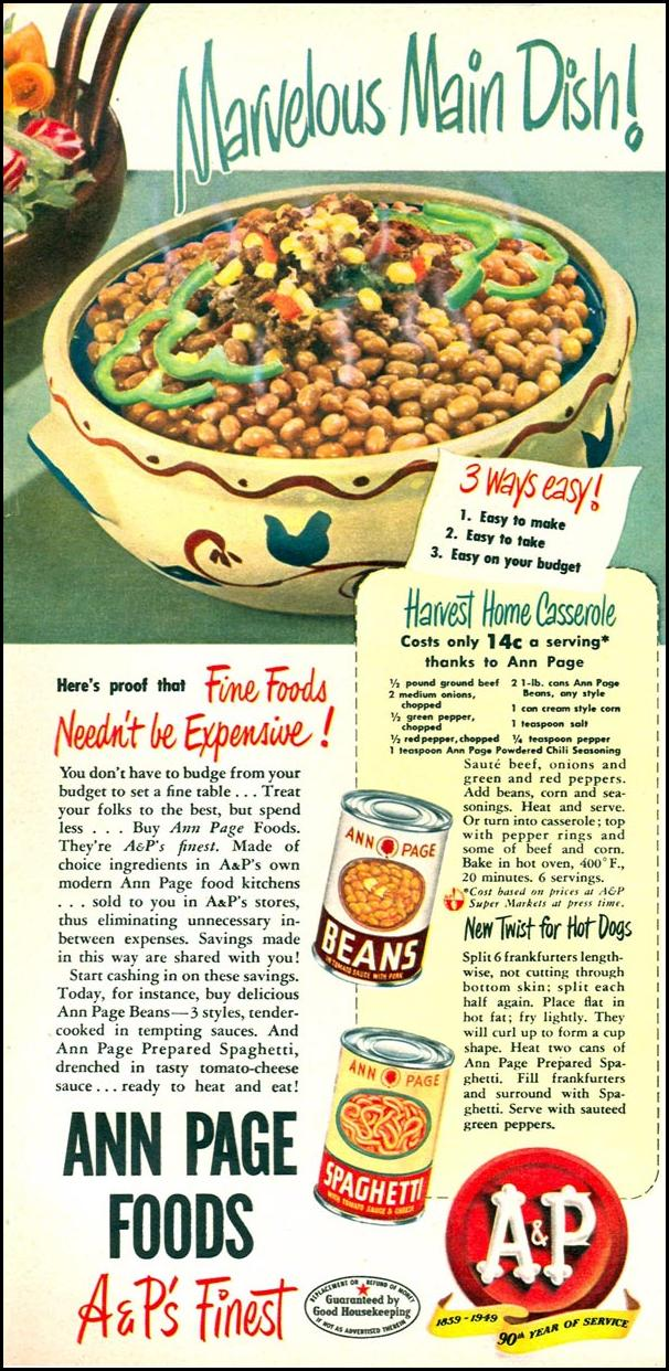 A & P ANN PAGE FOODS WOMAN'S DAY 09/01/1949