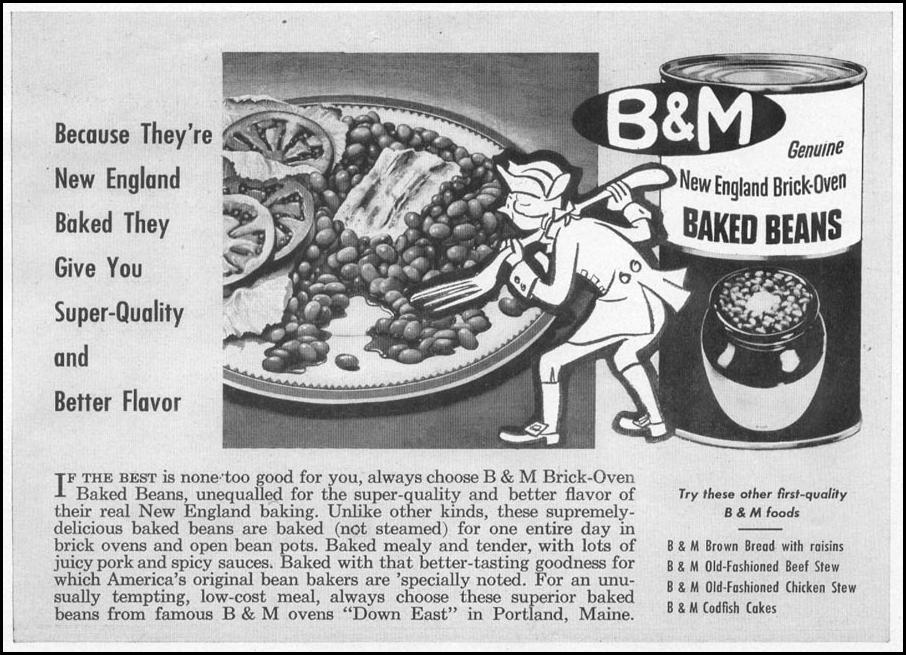 B & M BAKED BEANS WOMAN'S DAY 10/01/1949 p. 115