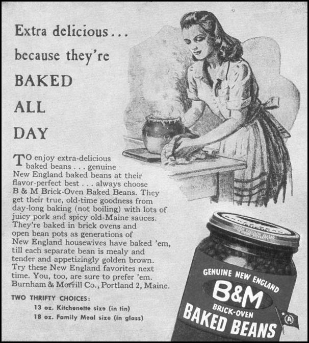 B & M BAKED BEANS WOMAN'S DAY 11/01/1945 p. 82