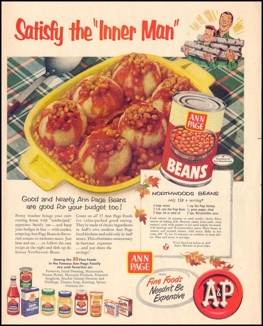 ANN PAGE BEANS LIFE 10/13/1952 p. 9