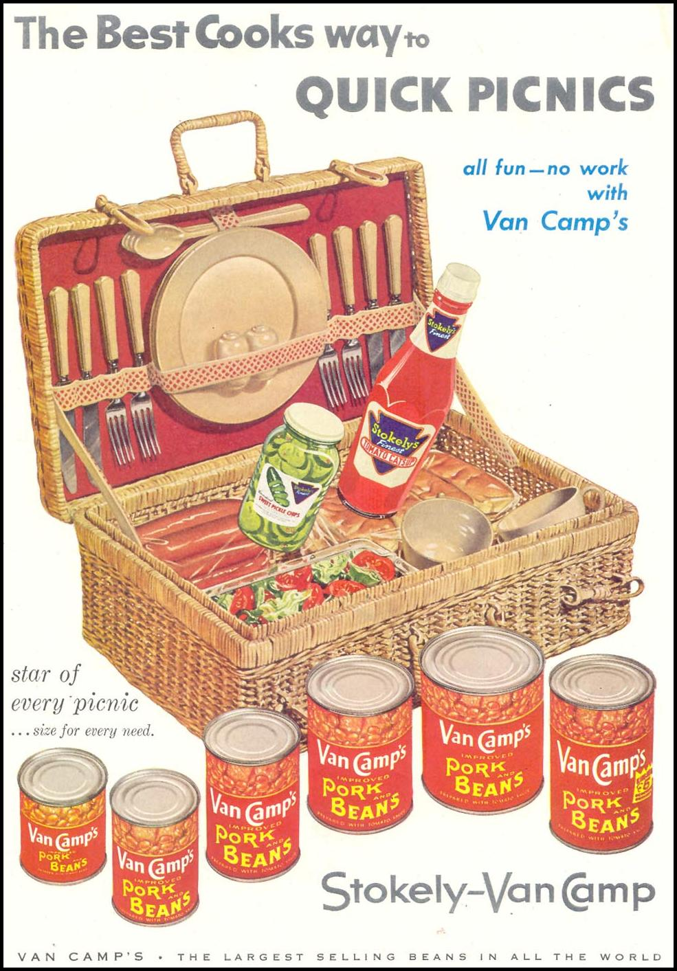 VAN CAMP'S PORK AND BEANS SATURDAY EVENING POST 09/03/1955 p. 65