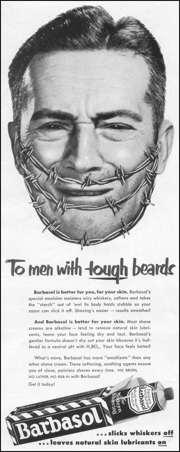 BARBASOL BEARD SOFTENER LIFE 10/13/1952 p. 110