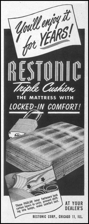 RESTONIC TRIPLE CUSHION MATTRESS LIFE 04/17/1950 p. 32