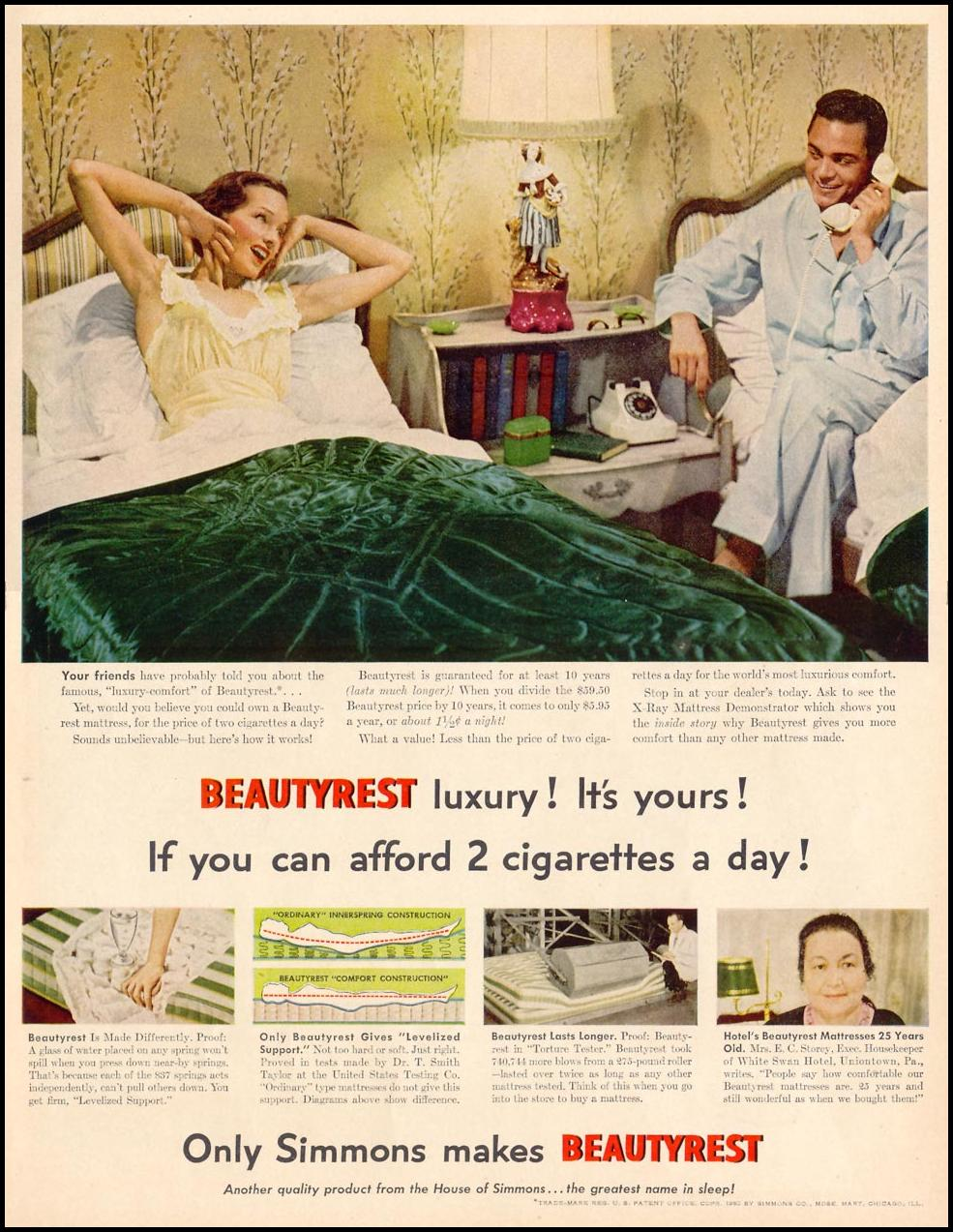 SIMMONS BEAUTYREST MATTRESS LIFE 06/05/1950 p. 87