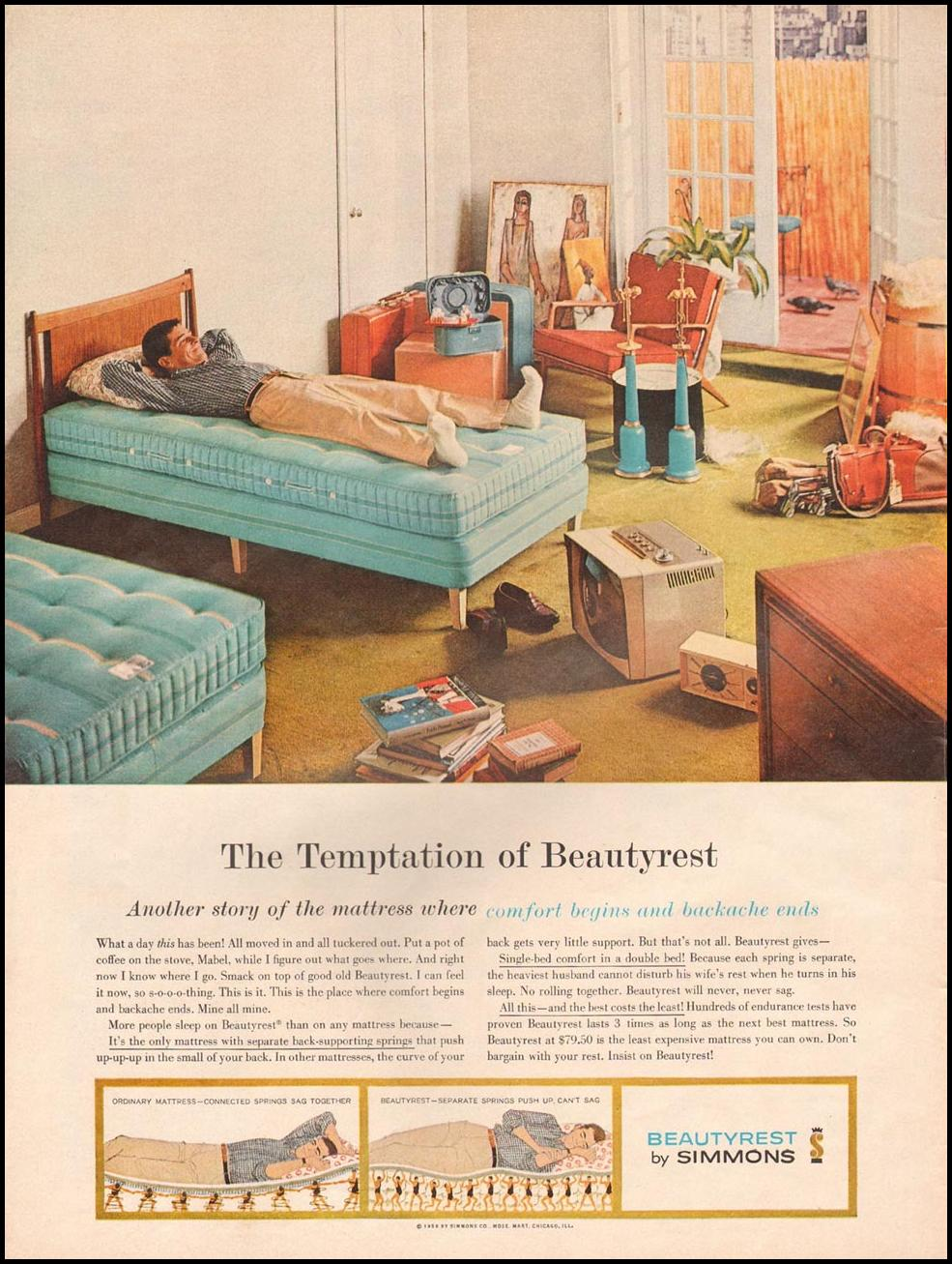 SIMMONS BEAUTYREST MATTRESS LIFE 08/10/1959