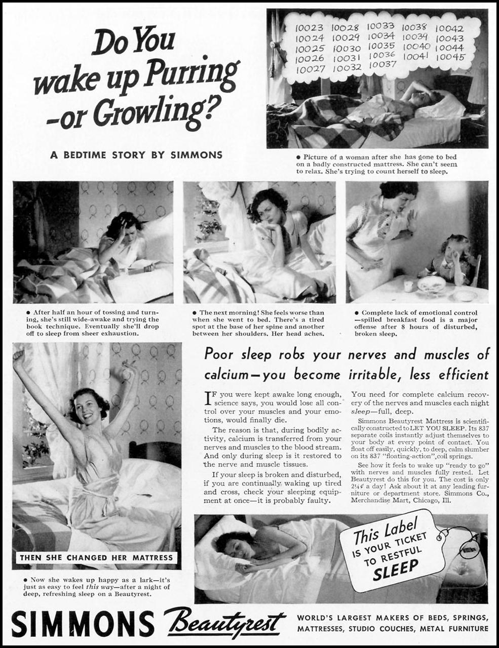SIMMONS MATTRESS LIFE 09/20/1937 p. 82