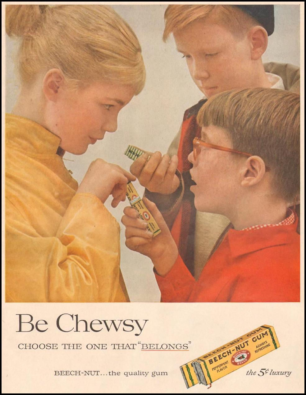 BEECH-NUT CHEWING GUM LIFE 04/01/1957 p. 77